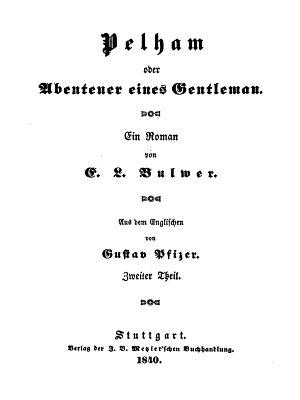 Pelham oder Abenteuer eines Gentleman   Zweiter Theil PDF