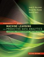 Fundamentals of Machine Learning for Predictive Data Analytics  Second Edition PDF