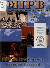 Military Intelligence Professional Bulletin PDF