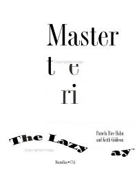 Master The Grill The Lazy Way Book PDF