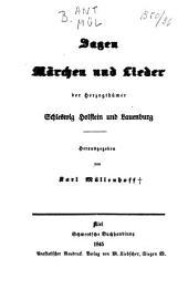Sagen, Märchen und Lieder der Herzogtümer Schleswig-Holstein und Lauenburg