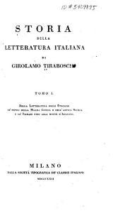 Della letteratura degli Etruschi, de'popoli della Magna Grecia, e dell'antica Sicilia, e de'Romani fino alla morte d'Augusto