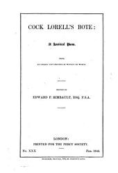 Cock Lorell's Bote: A Satirical Poem : from an Unique Copy Printed by Wynkyn de Worde, Volume 6