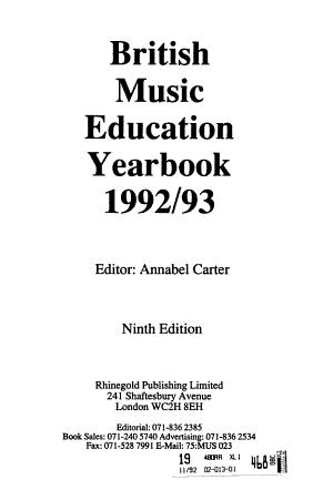 British Music Education Yearbook PDF