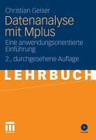 Datenanalyse mit Mplus PDF