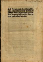 Quinque Tusculanarum questionum libri non tam philosophici quam luculentissimi