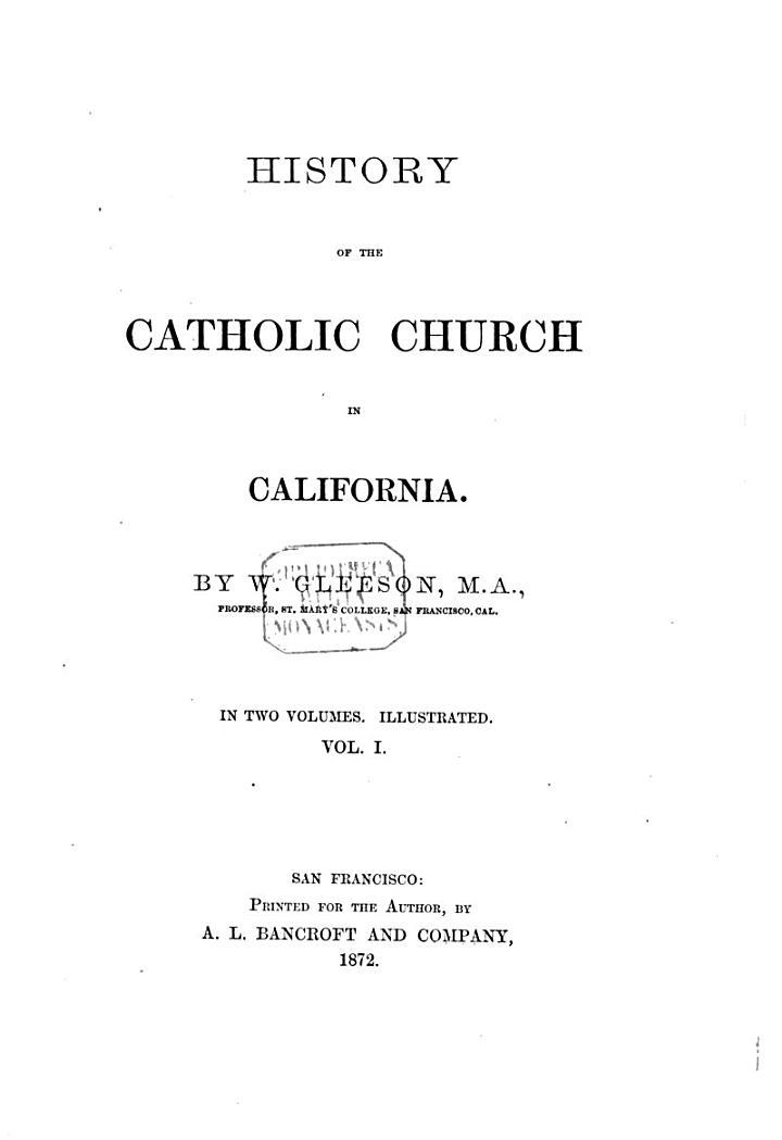 History of the Catholic Church in California