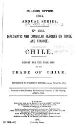 Diplomatic and Consular Reports. Annual Series: Issues 1351-1390