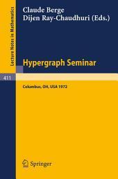 Hypergraph Seminar: Ohio State University, 1972