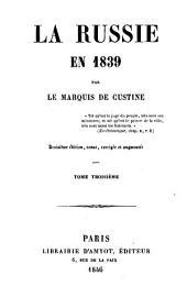 La Russie en 1839: Volume3