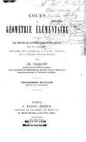 Cours de géométrie élémentaire