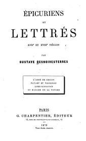 Épicuriens et lettrés: XVIIe et XVIIIe siècle