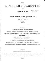 Literary Gazette and Journal of Belles Lettres science  and Art PDF