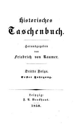 Historisches Taschenbuch PDF