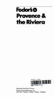 Provence and the Riviera PDF