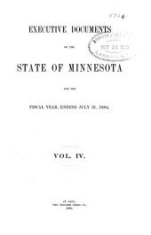 Executive Documents of the State of Minnesota for the Year ...: Volume 4