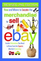 How and Where to Locate Merchandise to Sell on eBay PDF
