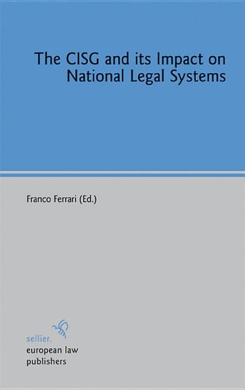 The CISG and its Impact on National Legal Systems PDF