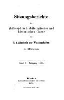 Sitzungsberichte der Bayerischen Akademie der Wissenschaften PDF