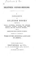 Bibliotheca Hispano americana PDF