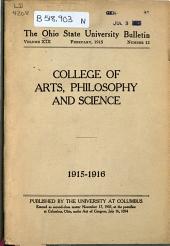 Ohio State University Bulletin: Volume 19, Issue 12; Volume 20, Issue 15; Volume 20, Issue 20; Volume 21, Issues 14-15; Volume 22, Issues 14-15; Volume 23, Issues 16-17; Volume 24, Issues 16-17