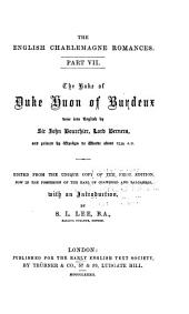 The Boke of Duke Huon of Burdeaux: Issue 40