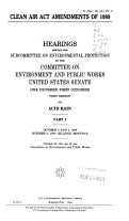 Clean Air Act Amendments of 1989  Acid rain PDF