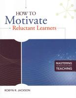 How to Motivate Reluctant Learners PDF