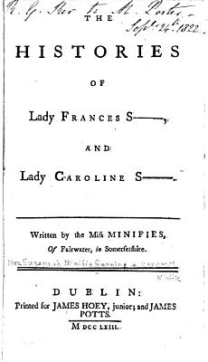 The Histories of Lady Frances S    and Lady Caroline S