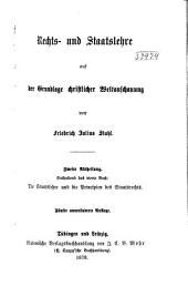 Rechts- und Staatslehre auf der Grundlage christlicher Weltanschanung. Abth. 1-2