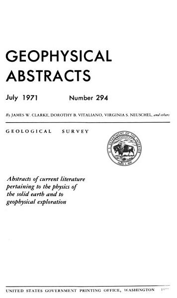 Download Geophysical Abstracts Book