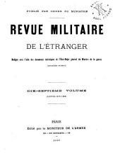 Revue militarie de l'étranger: Volume17