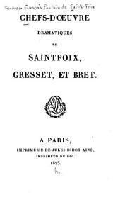 Chefs-d'oeuvre dramatiques de Saintfoix