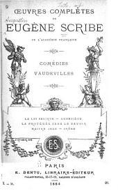 Œuvres complètes de Eugène Scribe: Volume31