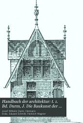 Handbuch der architektur: Band 4,Ausgabe 4