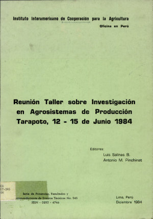 Reunion Taller Sobre Investigacion en Agrosistemas de Produccion PDF