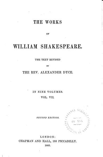 The Works of William Shakespeare  Macbeth  Hamlet  King Lear  Othello  Antony and Cleopatra  Cymbeline PDF