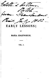 Early Lessons: Volume 1