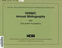 NHSQIC Annual Bibliography