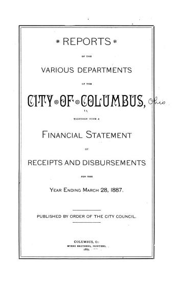 Annual Reports of the Various Departments of the City     PDF