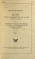 Legislative History of H R  13103  89th Congress  Foreign Investors Tax Act of 1966  Public Law 89 809 PDF