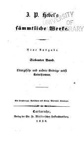 J.P. Hebel's sämmtliche werke: Bände 7-8