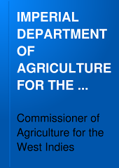 IMPERIAL DEPARTMENT OF AGRICULTURE FOR THE WEST INDIES