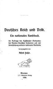 Deutsches reich und volk