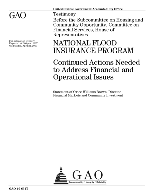 National Flood Insurance Program  Continued Actions Needed to Address Financial and Operational Issues