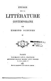 Études sur la littérature contemporaine: Volume2