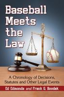 Baseball Meets the Law PDF