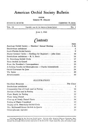 American Orchid Society Bulletin PDF