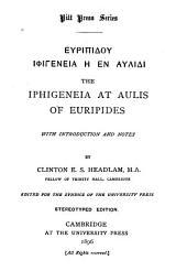 The Iphigeneia at Aulis