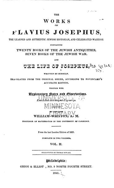 Download The Works of Flavius Josephus     Book